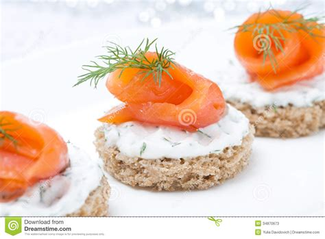 canape toast festive appetizer canape with rye bread cheese