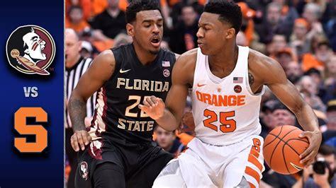 florida state  syracuse mens basketball highlights