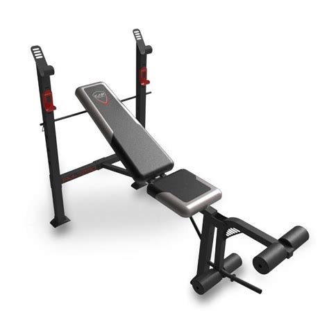 Barbell And Bench Set by Cap Barbell Standard Weight Bench New Fm 7230 Ebay