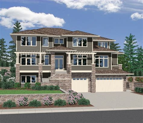 blockbuster upslope front view design ms architectural designs house plans