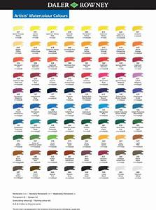 Colour Mixing Chart For Artists Artists 39 Watercolour Daler Rowney Watercolor Pallet