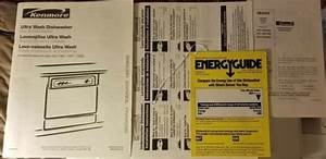 Kenmore Dishwasher Manual  Install  Parts    Instructions