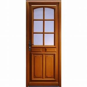 porte d39entree bois exotique isa 200x90 cm gauche With porte d entrée vitrée bois