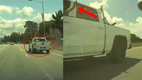 tesla owner  justice  dashcam records irate truck