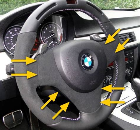 alcantra steering wheel center cover
