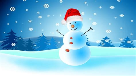Christmas Greeting Card With Snowman Hd Wallpapers For