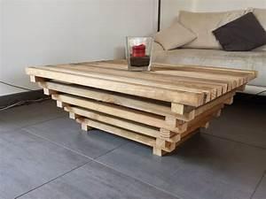 Table De Salon Originale : table de salon originale en bois table basse pas cher bois objets decoration maison ~ Preciouscoupons.com Idées de Décoration