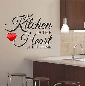Kitchen wall art for a more fresh kitchen decor for Kitchen colors with white cabinets with metal wall art quotes