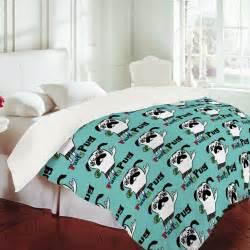 andi bird party pug aqua duvet cover design home