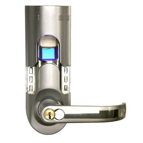 biometric door lock itouchless bio matic fingerprint silver right handle door