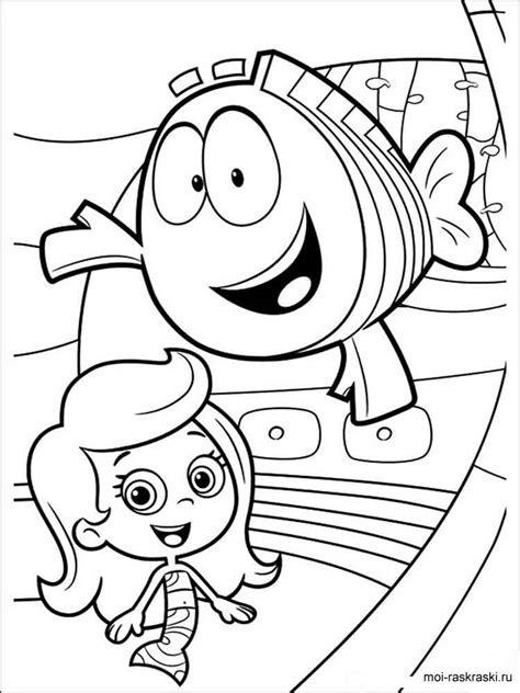 bubble guppies coloring pages  printable bubble