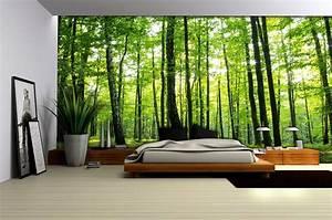 Bedroom forest wallpaper murals by Homewallmurals.co.uk