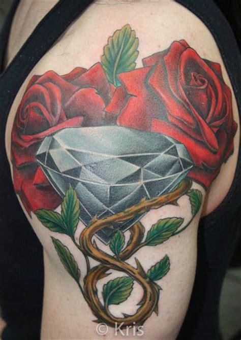 roses  diamond tattoo  professional tattooist kris