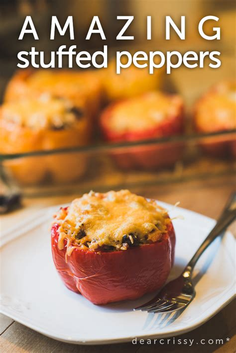 stuffed peppers recipe beef sausage stuffed peppers recipes dishmaps