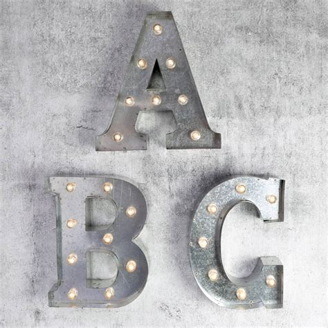 metal light up letters industrial metal letter with led lights by