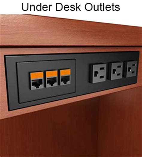 desk l with outlet what 39 s the best style power data outlet for you closet