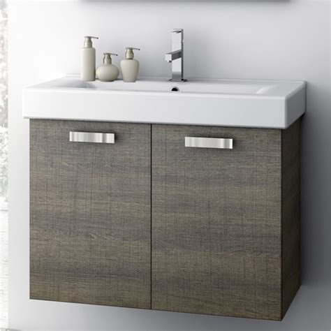 30 inch vanity cabinet with fitted sink contemporary