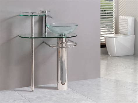modern bathroom vanities pedestal vessel glass furniture