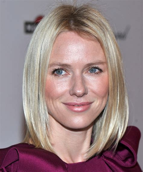 naomi watts casual medium straight hairstyle