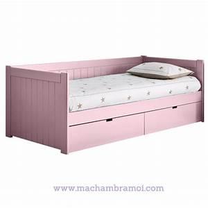Lit Princesse 90x190 : lit banquette enfant 2 tiroirs de rangement bahia asoral ~ Teatrodelosmanantiales.com Idées de Décoration
