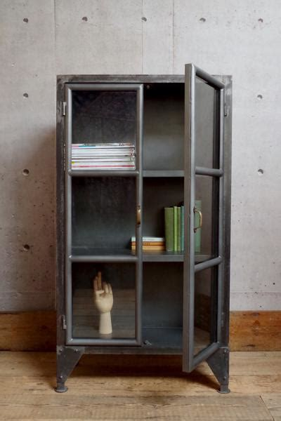 industrial style display cabinet industrial vincent and barn