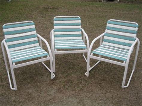poolside patio outdoor chair vinyl webbing   ebay