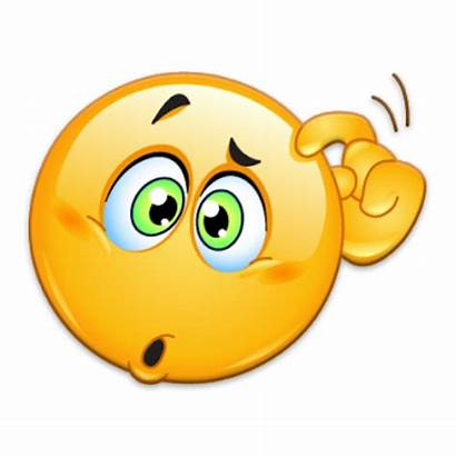 Emoji Thinking Transparent Confuse Confused Clipart Yellow