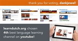 Learndutch.org chosen 4th best language channel on youtube!