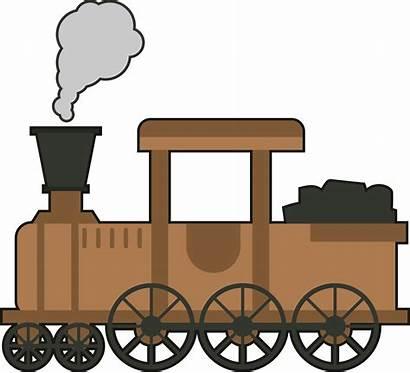 Kereta Kartun Api Train Gambar Rail Animasi