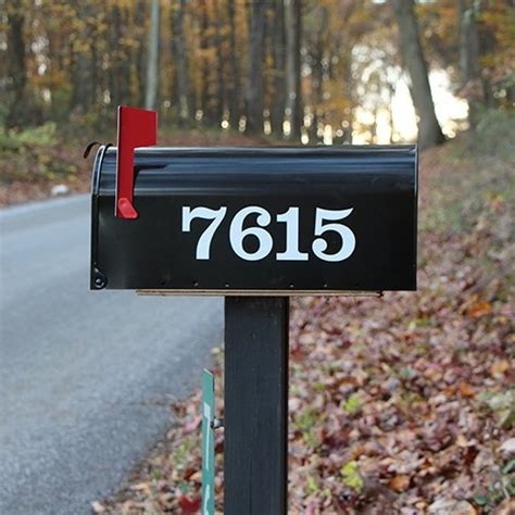 mailbox number stickers    custom prespaced numbers  decal sheet vl