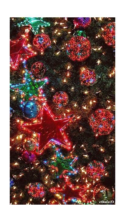 Christmas Lights Tree Animated Merry Glitter Ornaments