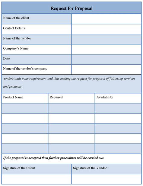 microsoft office request  proposal template