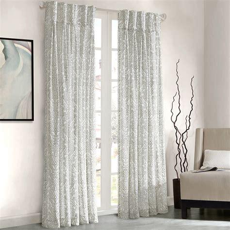 park amari damask pattern window panel curtain