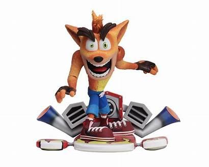 Crash Bandicoot Neca Figures Action Hoverboard Figure