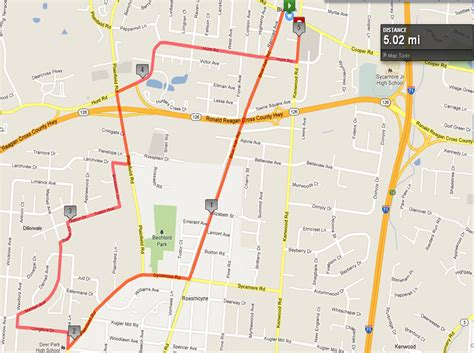 map a running route my
