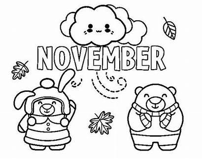 November Coloring Pages Printable Sheets Colorear Colouring