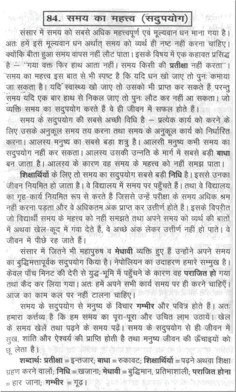 essay  importance  time  hindi language google