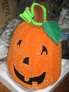 avon halloween glowing fiber optic pumpkin illuminating