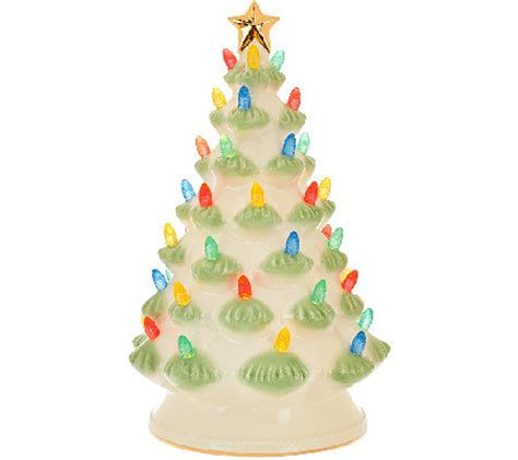 lenox treasured tradition 12 quot lit tree w 24k gold accents