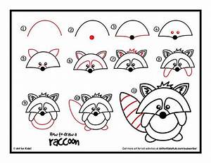 How To Draw A Raccoon Cartoon Art For Kids Hub