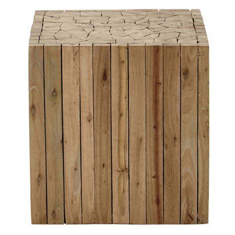 bout de canapé en bois l 35 cm alpin maisons du monde