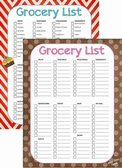Grocery Blank Printable Groceries Form Coupons Money