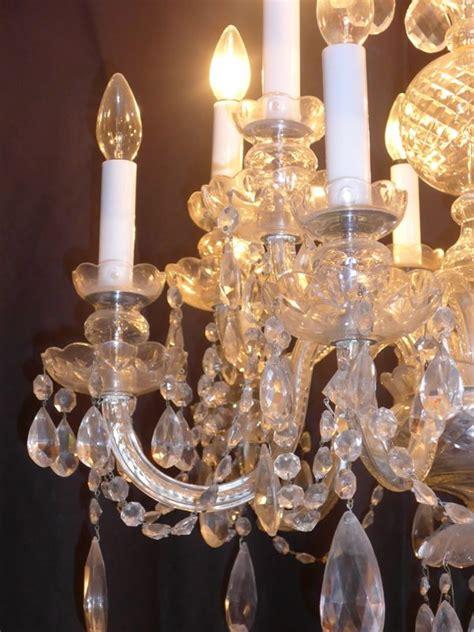 lustre a pilles en cristal de boh 202 me antiquit 233 opio