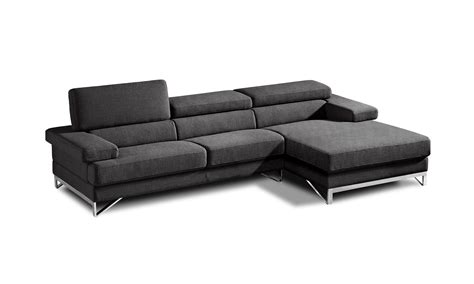 fabric sofas and sectionals coburn modern grey fabric sectional sofa
