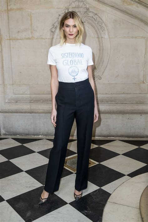 Karlie Kloss Attends The Christian Dior Show During Paris