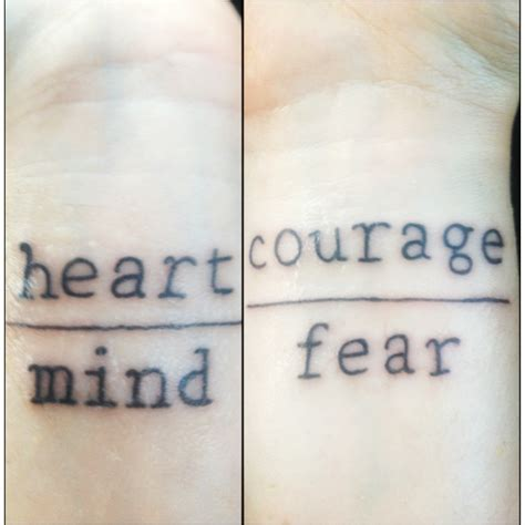 Heart Over Mind, Courage Over Fear By Cattuccino On Deviantart