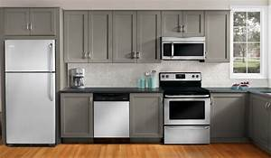 what color to paint kitchen cabinets with white appliances ...