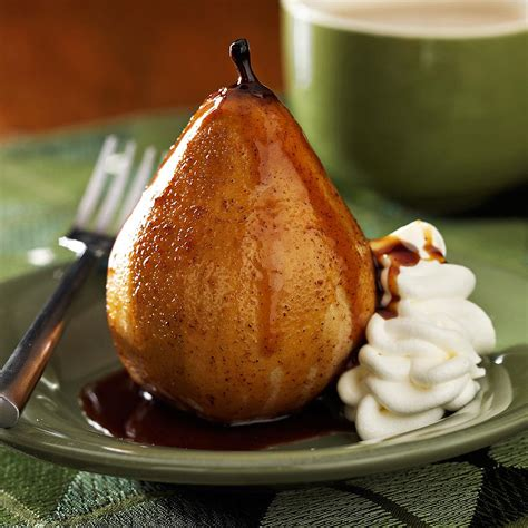 honey roasted pears recipe taste of home