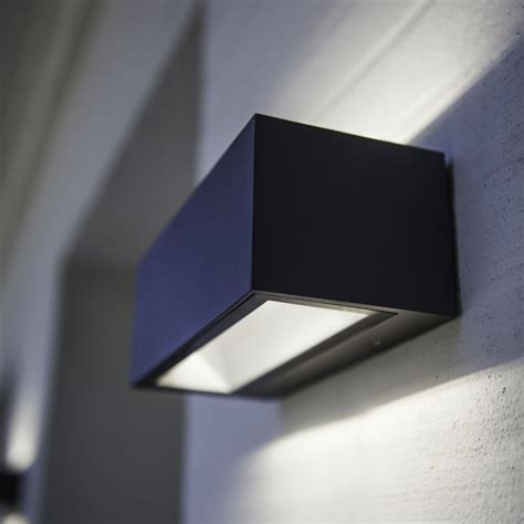 up and down wall lights lutec gemini brick small 9w exterior led up and down wall