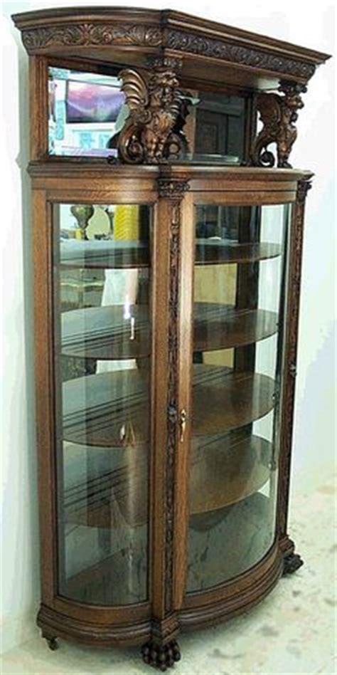 pulaski curio cabinet 21131 antique curio cabinets quarter sawn oak curved glass